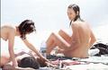 Uma Thurman fully nude on the beach in St Bart's (7/96)