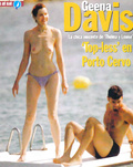 Geena Davis - topless sunbathing (1999)